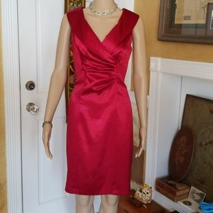 Dresses & Skirts - Gorgeous Neiman Marcus Red Satin Dress
